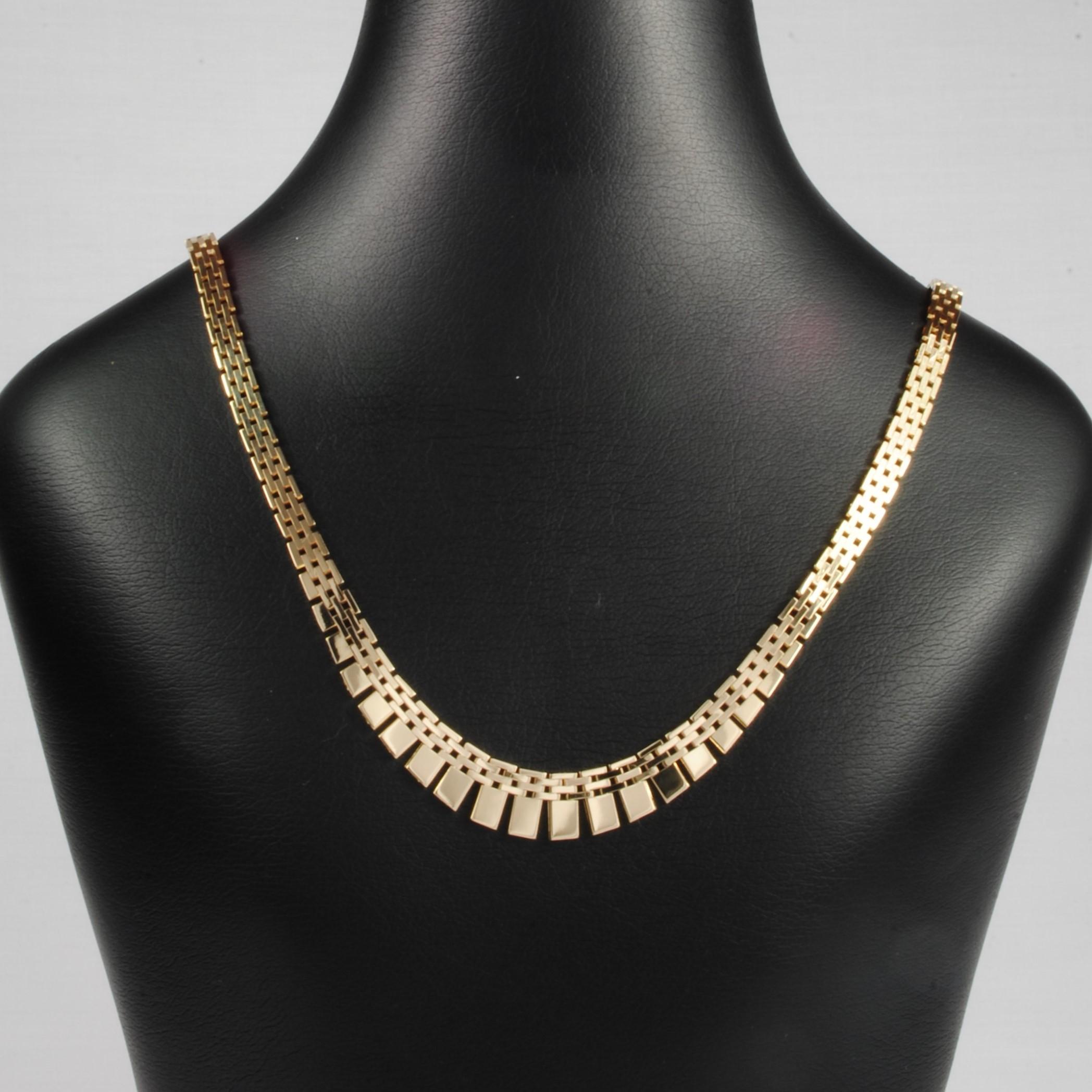 53365a998728 14 kt Guld Mursten halskæde med forløb 45 cm - Ure-smykker din ...