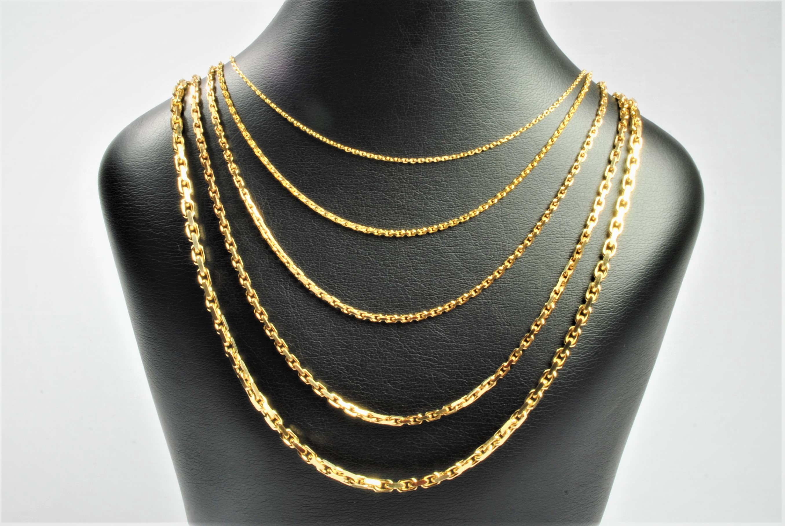 53e12c8f4c5 14 kt Guld anker facet halskæde 80 cm - Ure-smykker din lokale ...