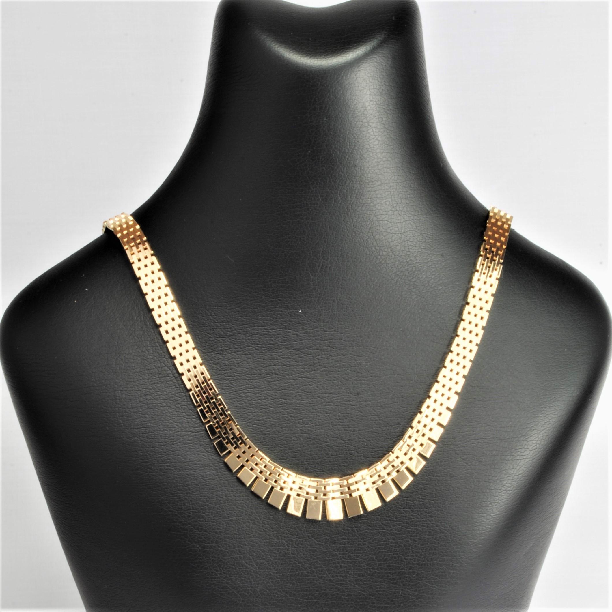 0364278efb39 14 kt Guld Mursten halskæde med forløb 42 cm - Ure-smykker din ...