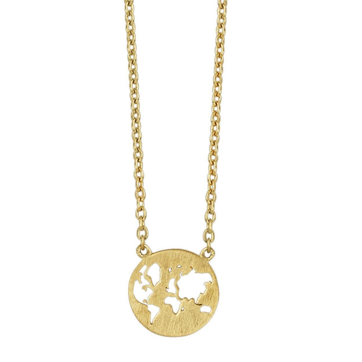 Hypermoderne BEAUTIFUL WORLD halskæde- Solid Guld - Ure-smykker din lokale PV-09