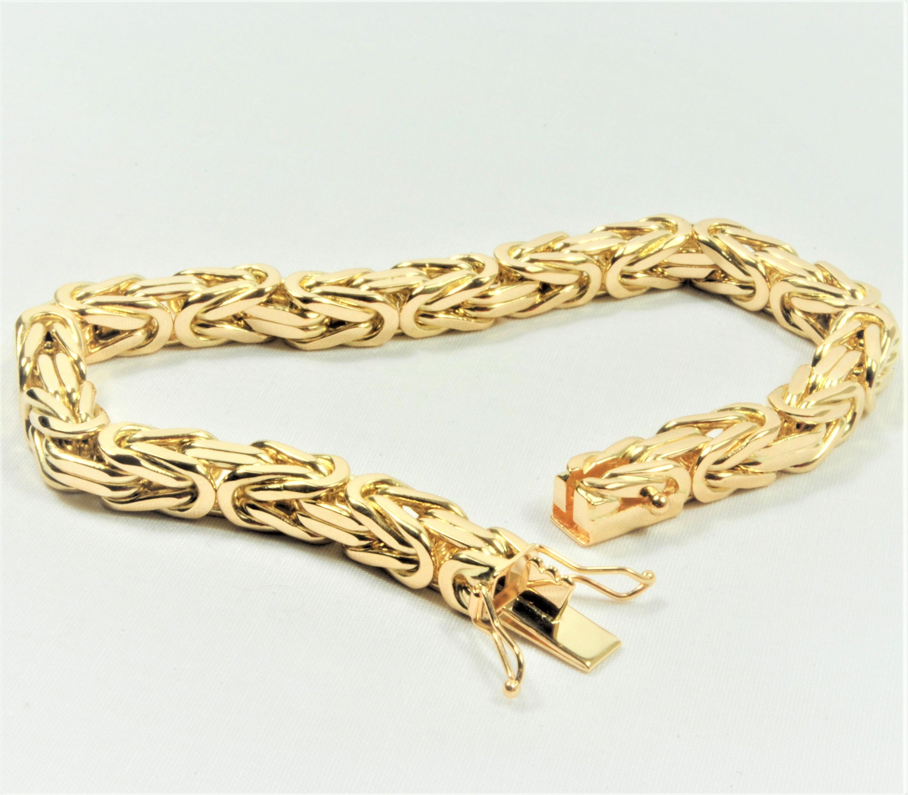 2d7ec614a1a4 14 kt Guld kongekæde armbånd 18