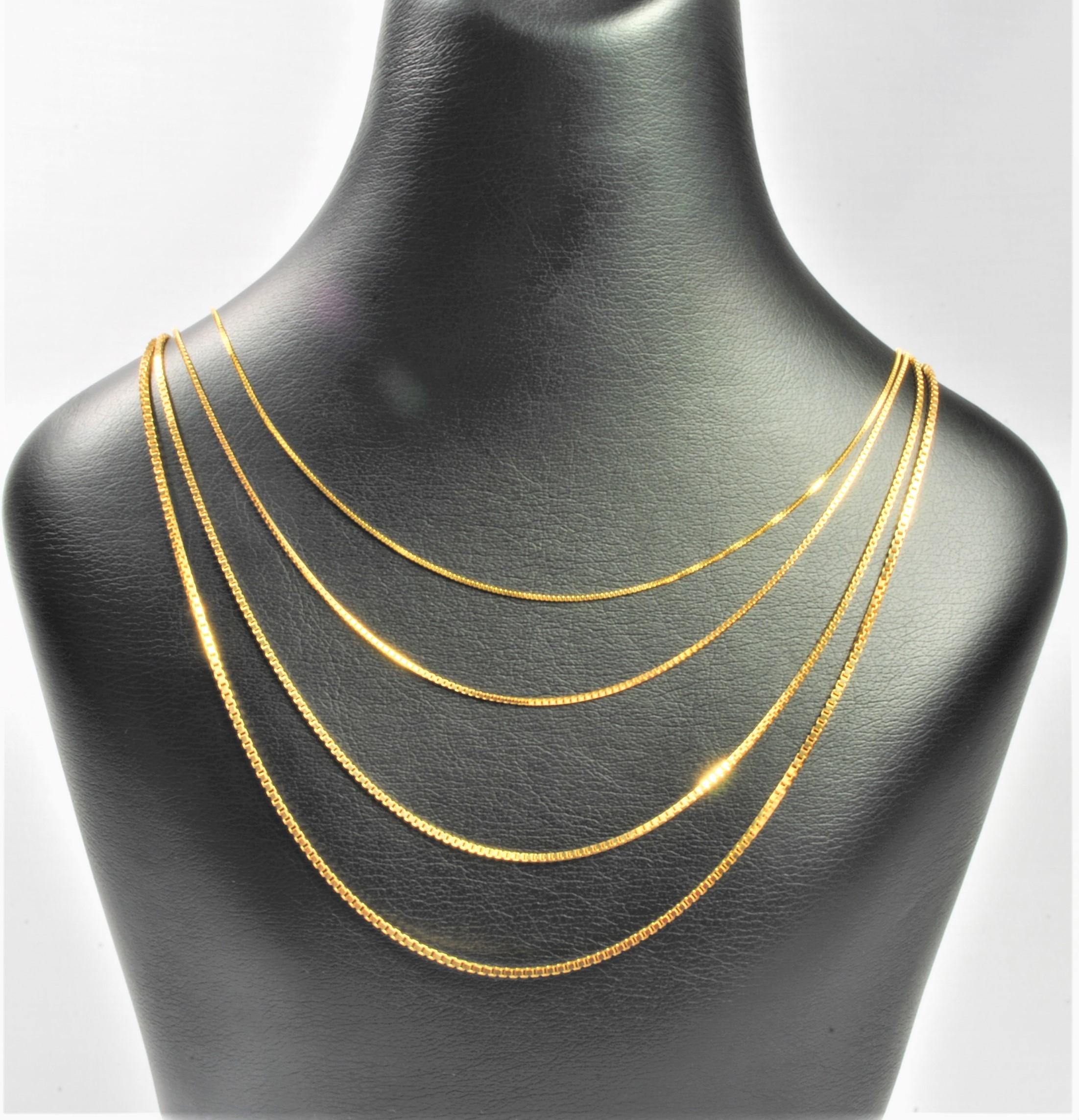 a0b3980c01d 14 kt Guld venezia halskæde 80 cm - Ure-smykker din lokale urmager ...