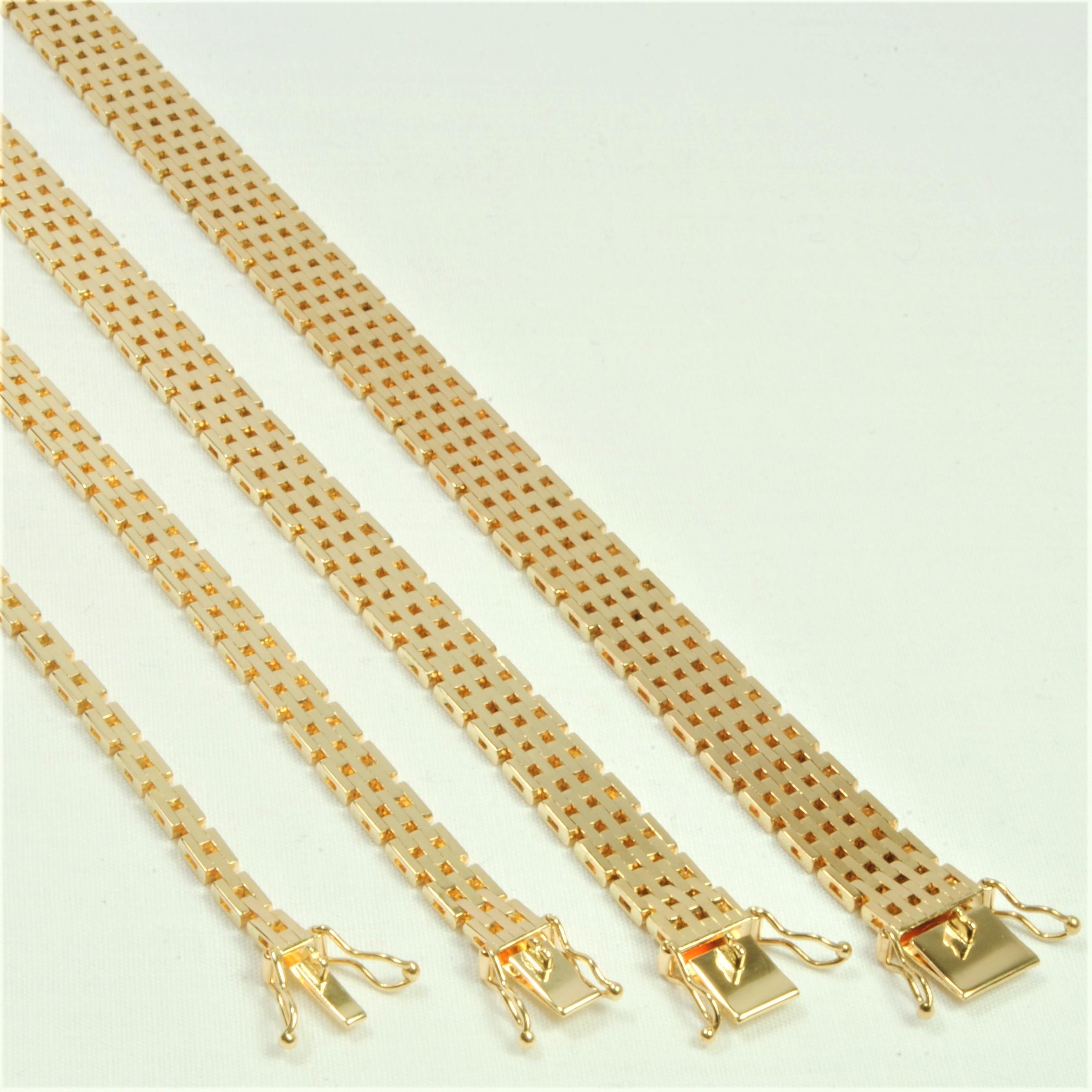 0bc9e86b6cf0 14 kt Guld Mursten halskæde i ligeløb 45 cm - Ure-smykker din lokale ...