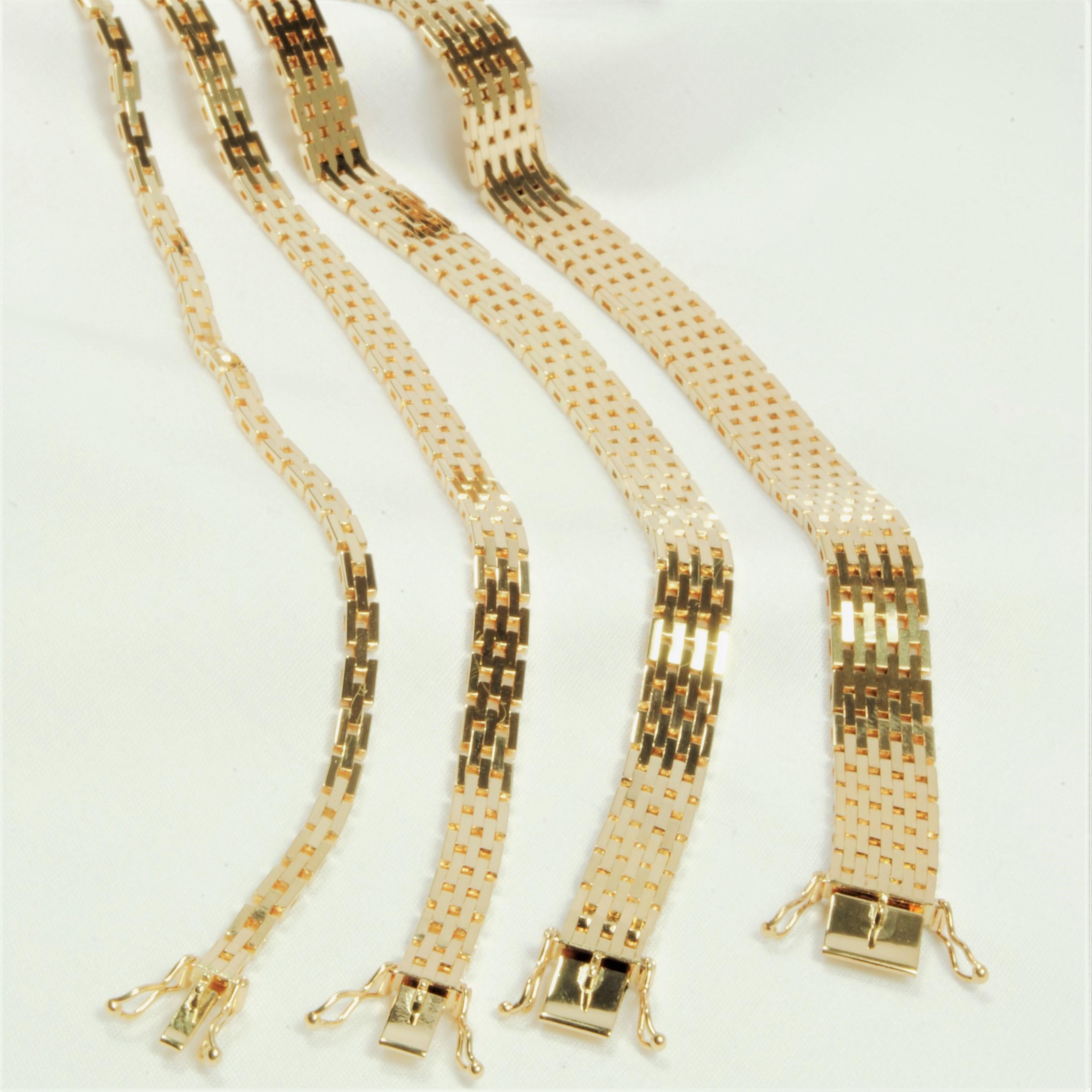 0786d51ccd69 nok 14 kt Guld Mursten armbånd 18