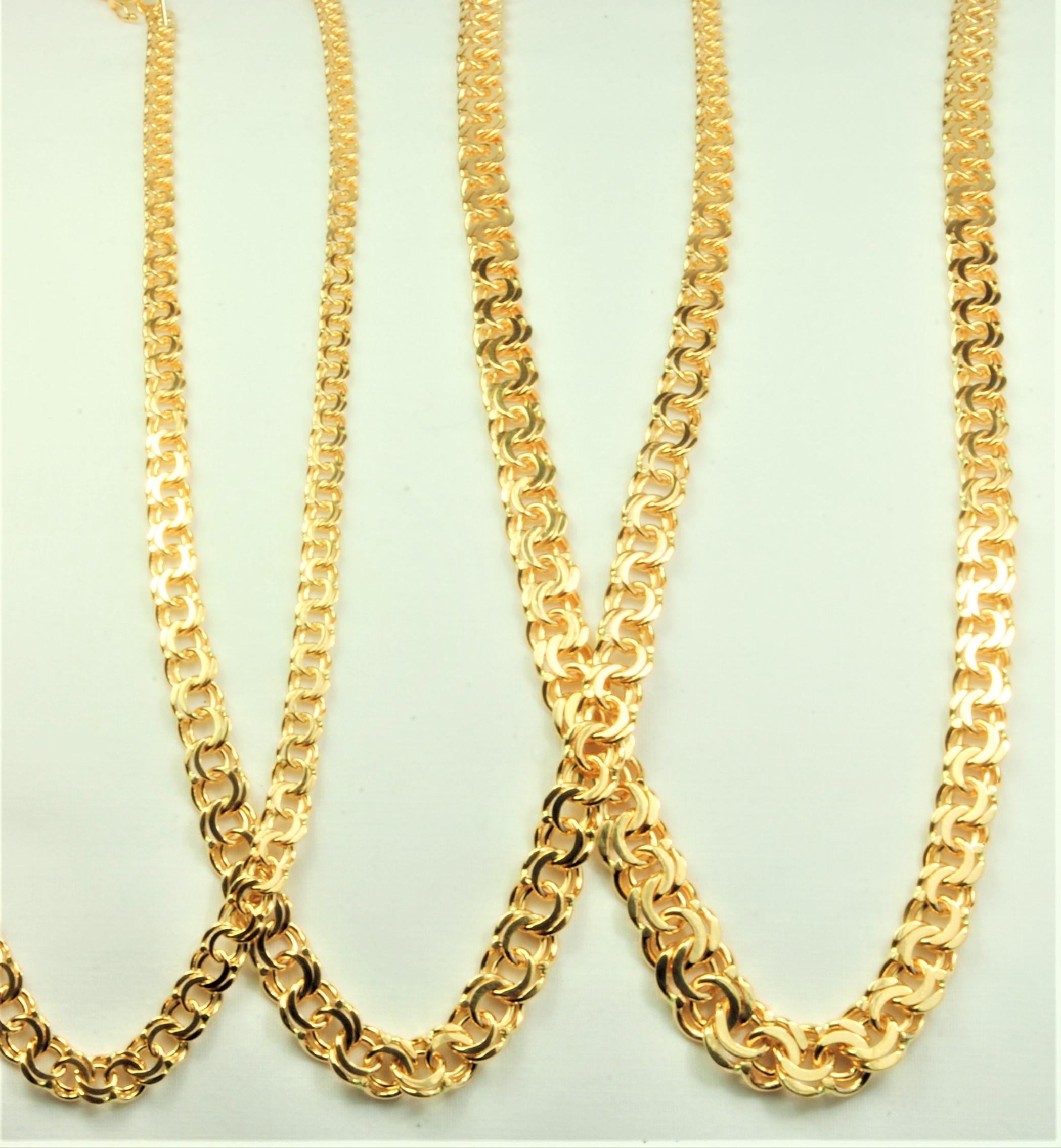 8081a68718cc 14 kt Guld Bismark halskæde i ligeløb 45 cm - Ure-smykker din lokale ...
