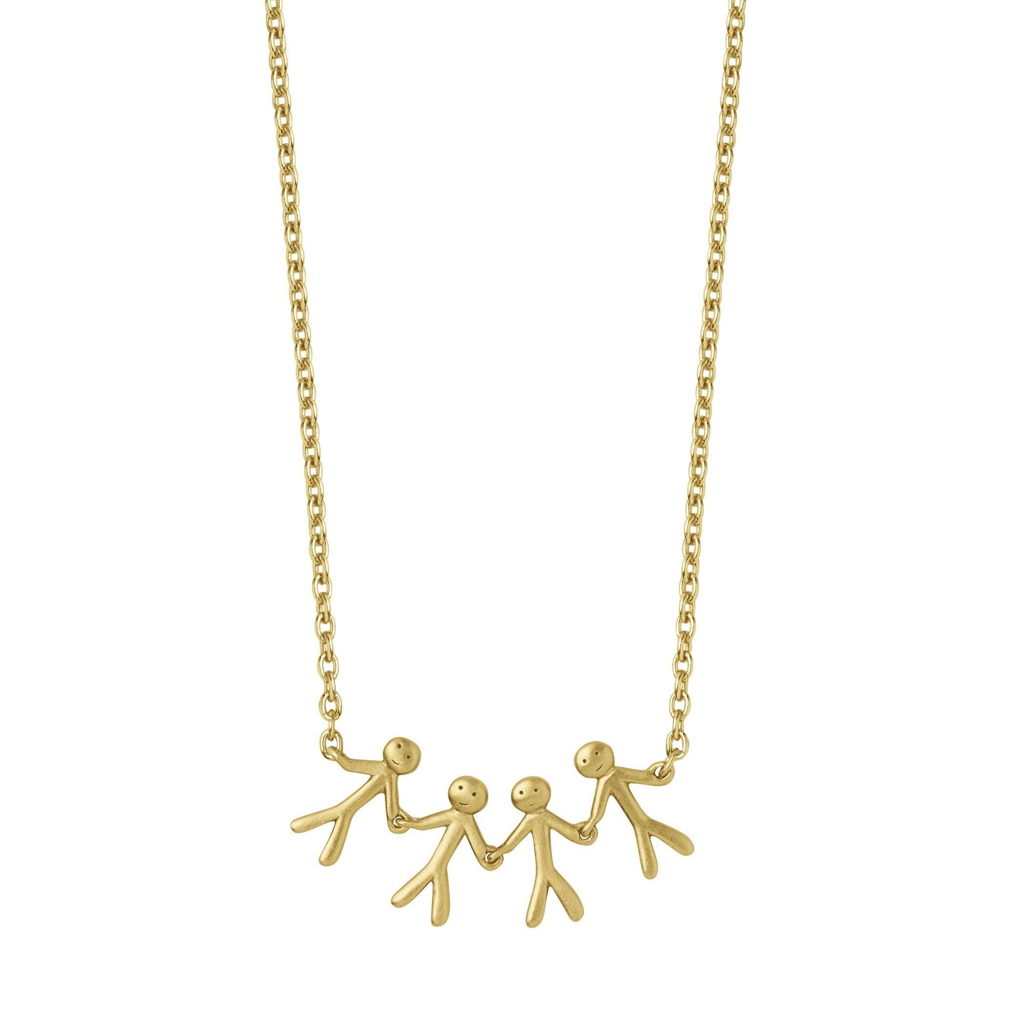 Lækker Together - Family 4 halskæde - Guld - Ure-smykker din lokale ND-49