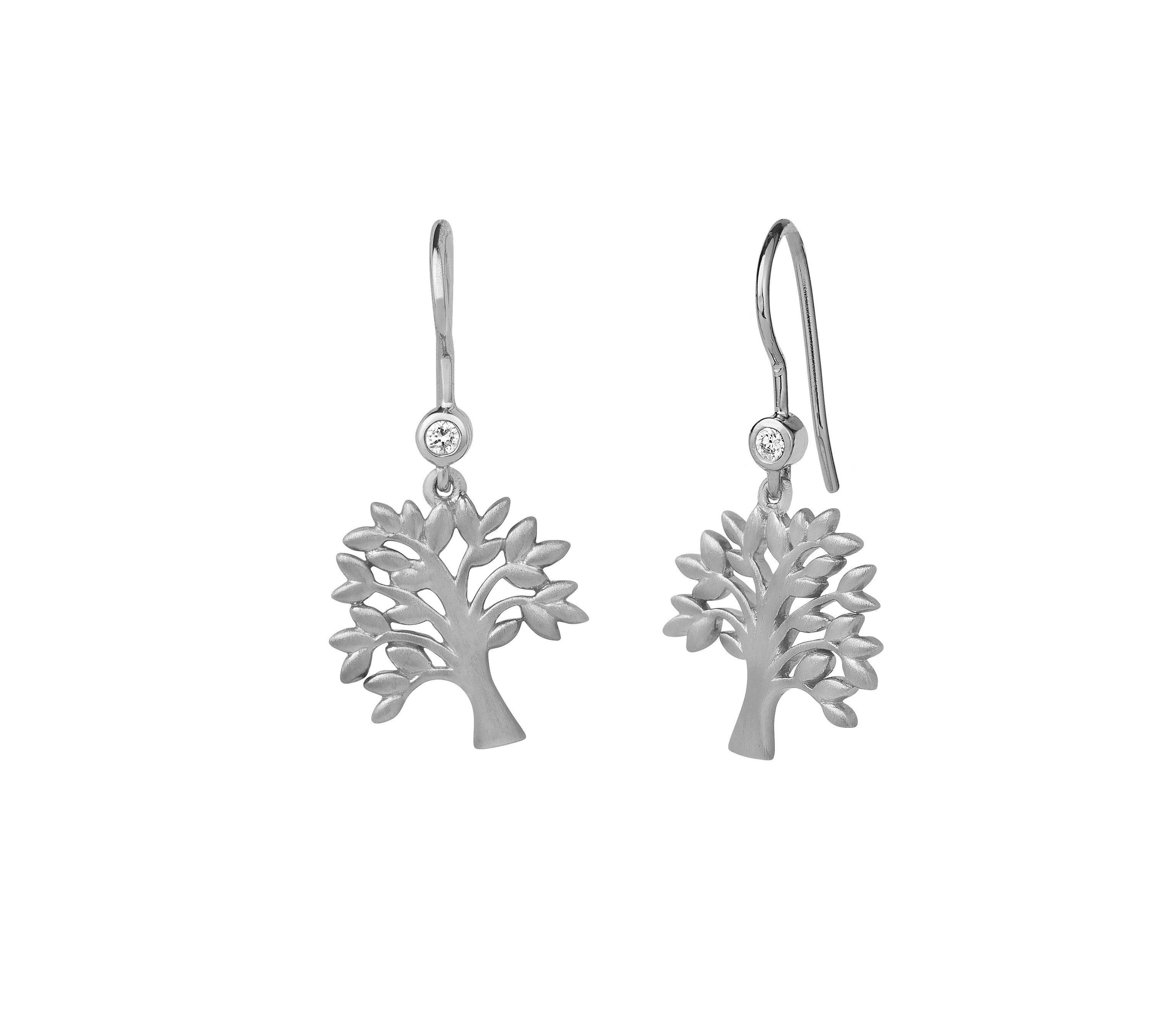 5aabbce4998 Tree Of Life øreringe - Sølv - Ure-smykker din lokale urmager og ...