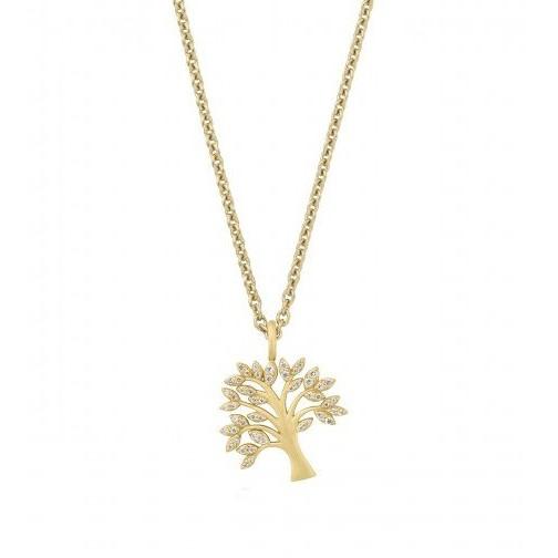 821ca639b45 Tree of Life sparkle halskæde - Guld - Ure-smykker din lokale ...